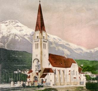 1907 ca christuskirche postkarte von lindenthaler klein