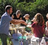 Speisung der 5000 - im Kirchengarten