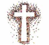 Christlicher glaube im gesprach (foto)