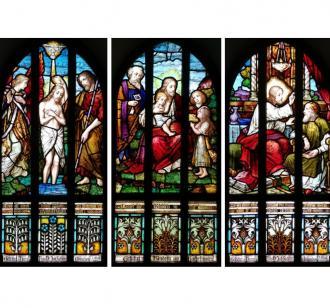 Buntglasfenster taufkapelle (quadrat)